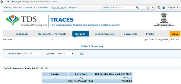 Download consolidation and justification file from TRACES- Image 2