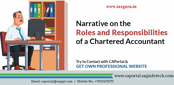 Narrative on the Roles and responsibilties of a CA