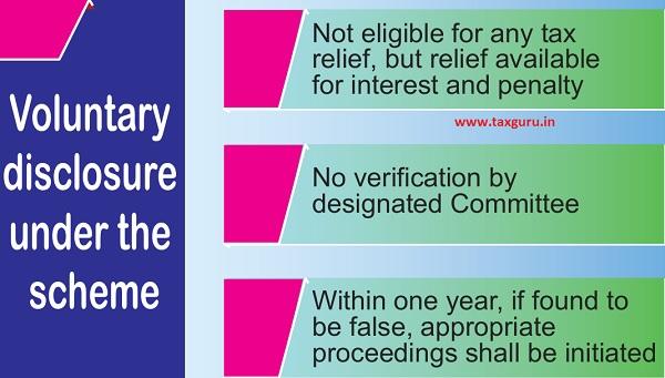Voluntary disclosure under the scheme
