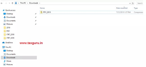 extract an ITR utility images 2