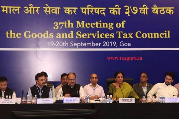 37 GST Council meeting