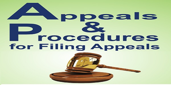 Appeals and Procedures for Filing Appeals