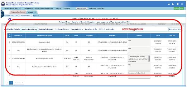 Application History Tab (ix)