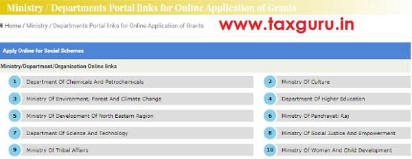 Apply Online for Social Schemes