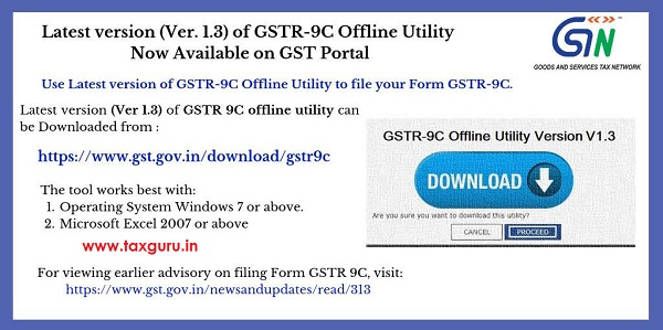 Latest Version of GSTR-9C