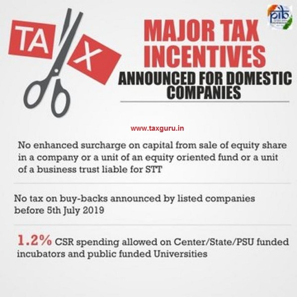 Major Tax Incentives Announced for Domestic Companies images 2
