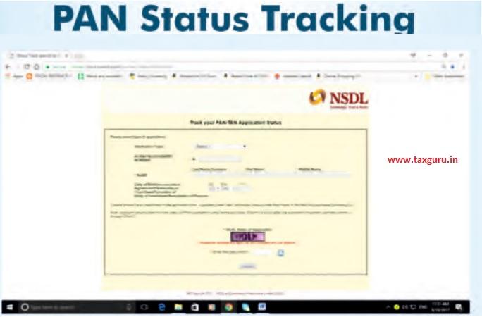 PAN Status Tracking