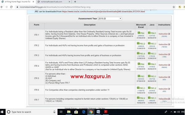 filing ITR-3 , ITR-3 and ITR-7 just changed on 12.09.2019