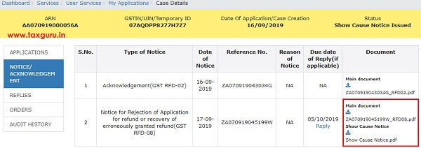 View notices orders and File Reply to the Issued Notices Image 11