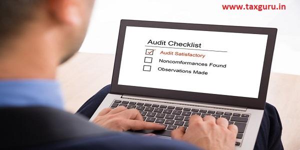 Businessman Filling Audit Checklist Form