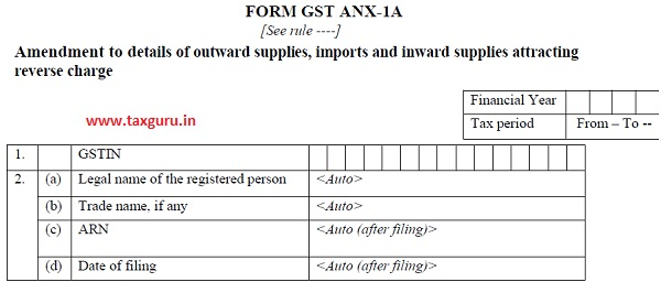 FORM GST ANX-1A