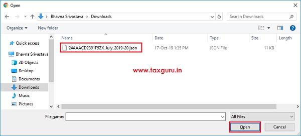 Form GST ANX-1 JSON File Image 4