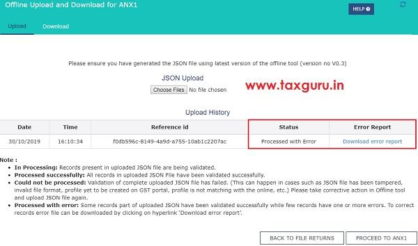 Form GST ANX-1 JSON File Image 6
