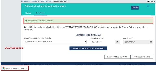 Form GST ANX-1 JSON File Image 9