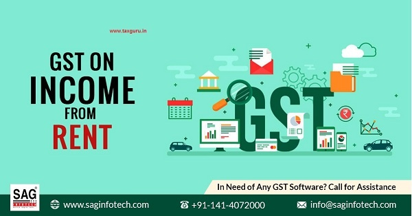 GST onn income from rent