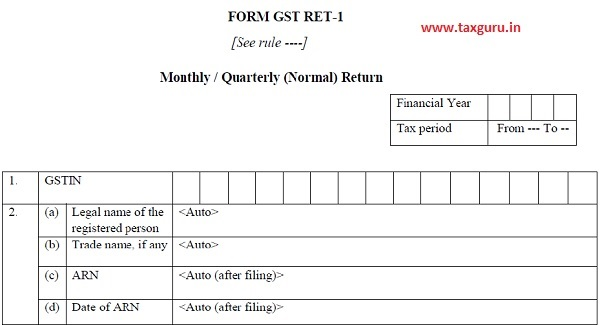 Monthly Quarterly (Normal ) Return
