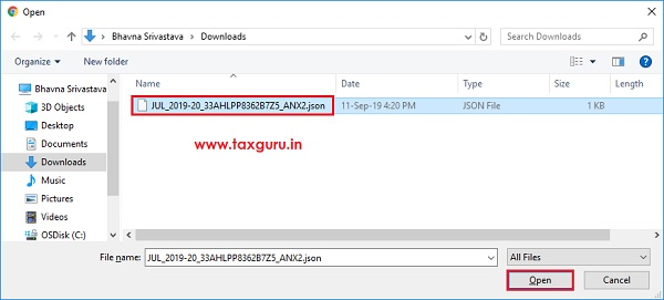 Online Upload and Download of Form GST ANX-2 JSON File Image 4