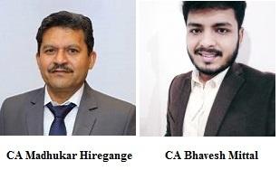 CA Madhukar Hiregange and CA Bhavesh Mittal
