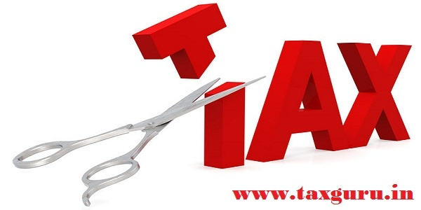 Cut tax with scissor isolated on white, 3D rendering - Tax Relief- Tax Deduction
