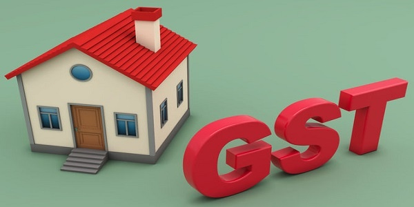 GST Goods and Services Tax concept with House Model