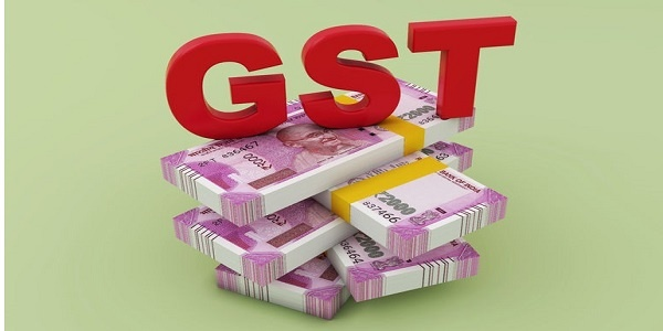 GST concept with new indian currency