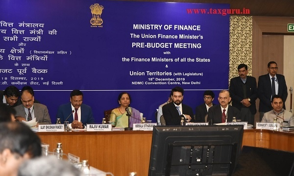 Smt. Nirmala Sitharaman holds Pre-Budget consultation with Finance Ministers of StateUTs