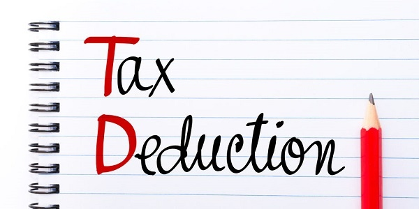 TDS Tax Deduction written on notebook page