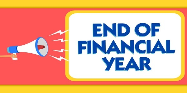 Text sign showing End Of Financial Year