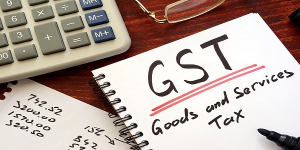 goods and services tax (GST) written in a note
