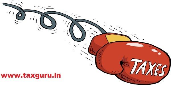 Cartoon tax blow boxing gloves