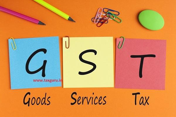 Goods Services Tax GST Concept