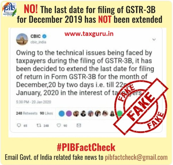 GSTR-3B Fake News