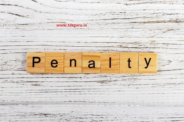 Penalty word made with wooden blocks concept