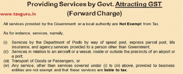 Providing services by Govt.