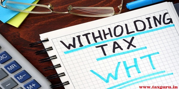 Whithholding tax WHT concept written in a notebook