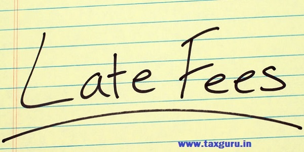 Word late fees underlined on a yellow legal pad