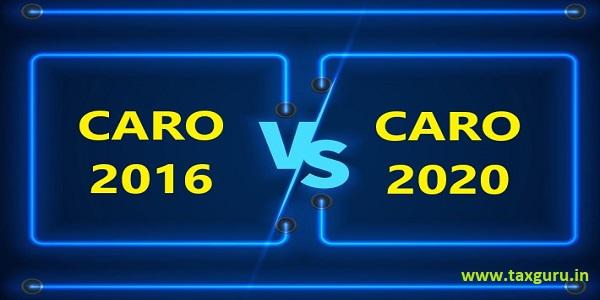 CARO 2016 Vs CARO 2020