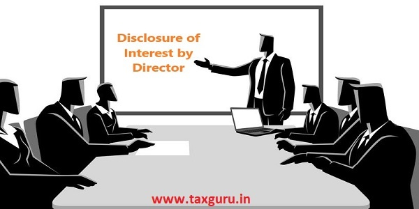 Disclosure of Interest by Director