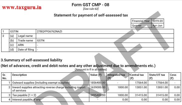Filing Form GST CMP-08 Image 19