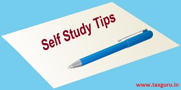 Self Study Tips