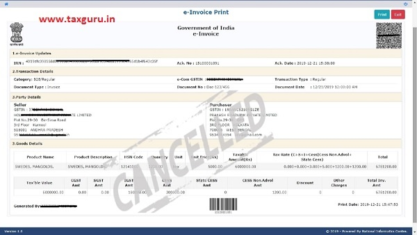 e-invoice system 11