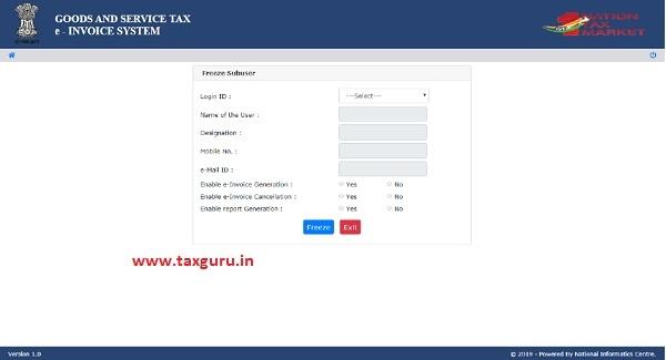e-invoice system 16