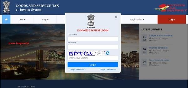 e-invoice system