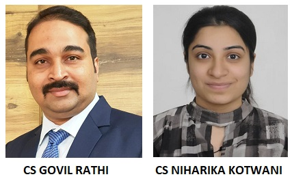 CS GOVIL RATHI and CS NIHARIKA KOTWANI