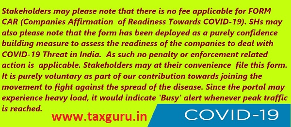 Companies Affirmation of Readiness towards COVID-19 CAR 2020