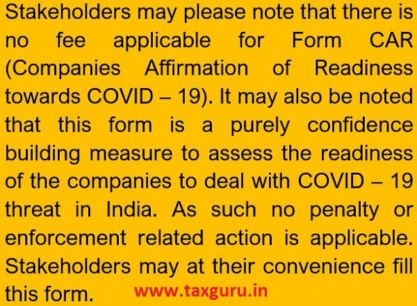 Companies Affirmation of Readiness towards COVID-19