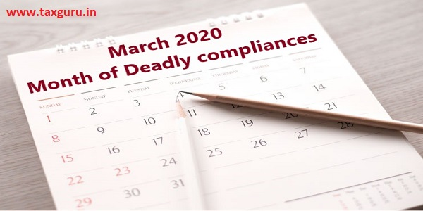 Due Date Compliance Calendar March 2020