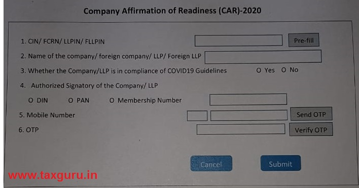 Form - Comapy Affirmation of Readiness (CAR)-2020