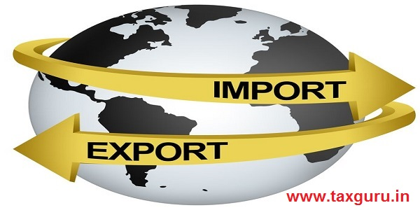 Golden Import And Export Arrow Around The Gray Earth For Business Direction