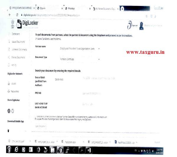 Sample Screens at DigiLocker 2
